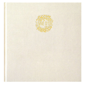EDITIONS DU DESASTRE Carnet de coton blanc dorure carré