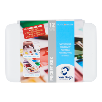 VAN GOGH Aquarelle Pocketbox 12 1/2 godets +3 gratuits
