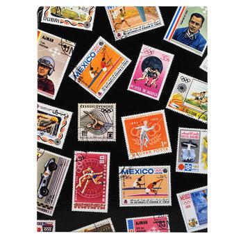EXACOMPTA Album de timbres Sport 16 pages noires - 22,5x30,5 cm
