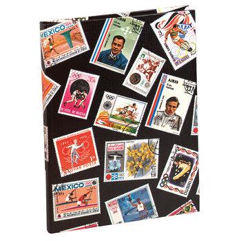EXACOMPTA Album de timbres Sport 16 pages noires - 16,5x22,5 cm