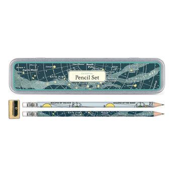 CAVALLINI Set de 10 Crayons Vintage + 1 Taille Crayon Céleste
