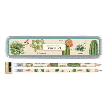CAVALLINI Set de 10 Crayons Vintage + 1 Taille Crayon Vintage Succulents