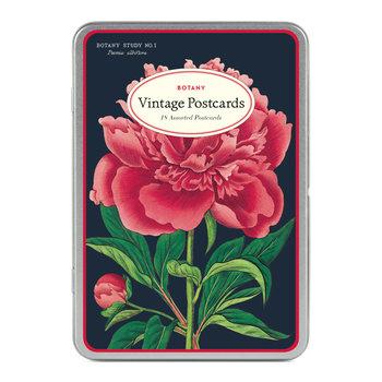 CAVALLINI Set de 18 Cartes Postales Vintage Botanique
