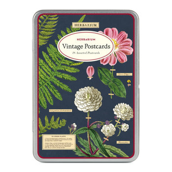 CAVALLINI Set de 18 Cartes Postales Vintage Herbarium