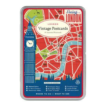 CAVALLINI Set de 18 Cartes Postales Vintage Londres