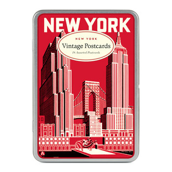 CAVALLINI Set de 18 Cartes Postales Vintage New York