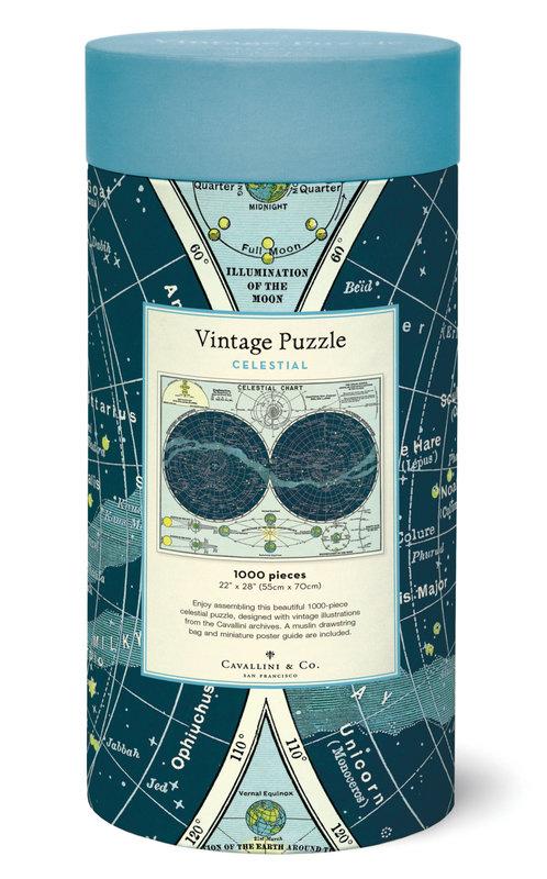 CAVALLINI Puzzle 1000 pièces 55x70cm Céleste