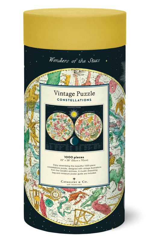 CAVALLINI Puzzle 1000 pièces 55x70cm Constellations