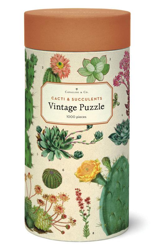 CAVALLINI Puzzle 1000 pièces 55x70cm Succulentes