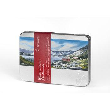 HAHNEMUHLE 30 Cartes postales Aquarelle + boite métale 10,5x14,8cm