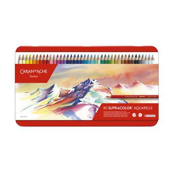 CARAN D'ACHE Supracolor® - Boîte métal à 80 couleurs