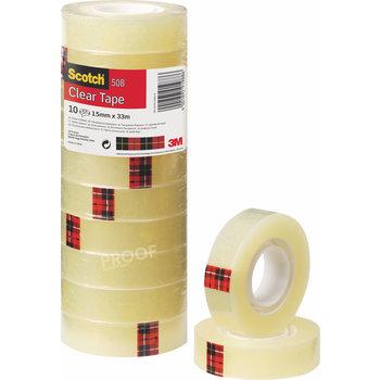 SCOTCH Ruban adhésif Scotch® transparent 508, tour de 10 rouleaux 15 mm x 33 m
