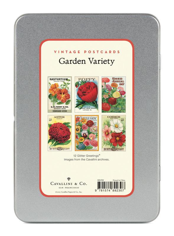 CAVALLINI Set de 12 Cartes Postales Vintage Variété du Jardin