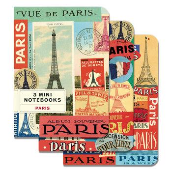 CAVALLINI Set de 3 Carnets 10x14cm Vintage Paris
