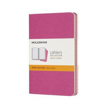 MOLESKINE Cahier format de poche ligné x3 - Rose cinétique