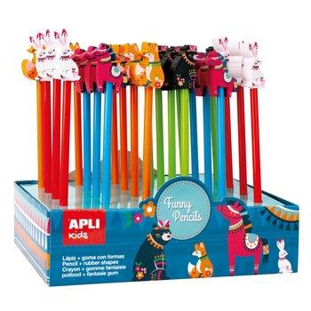 APLI Crayons avec gomme Animaux fantaisie à l'unité modèle aléatoire