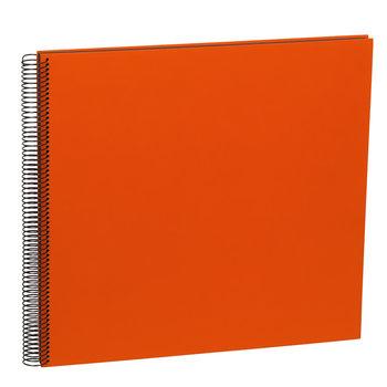 SEMIKOLON Album Photo Spiral Economy Large - Orange - Pages noires