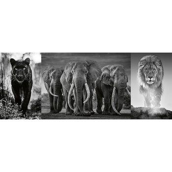 RAVENSBURGER Puzzle 1000 p - Panthère, éléphant, lion (Triptyque)
