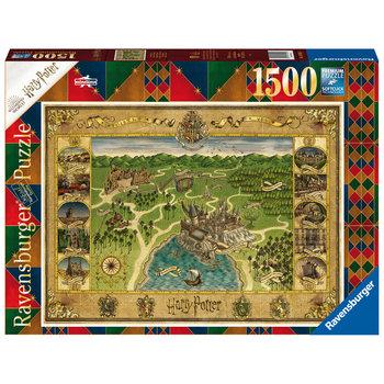 RAVENSBURGER Puzzle 1500 p - La carte de Poudlard / Harry Potter