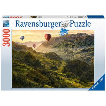 RAVENSBURGER Puzzle 3000 p - Terrasses de riz en Asie
