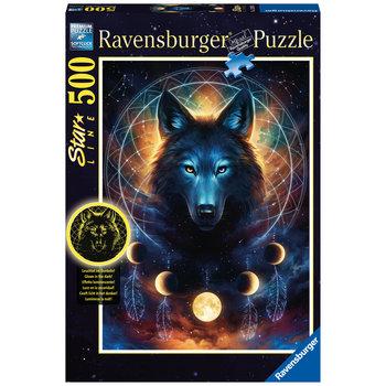 RAVENSBURGER Puzzle Star Line 500 p - Loup lumineux