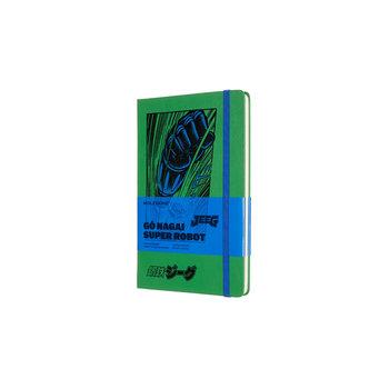 MOLESKINE Edition limitée Carnet Go Nagai grand format à pages blanches- Jeeg Robot - Couverture rigide