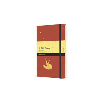 MOLESKINE Edition limitée Carnet Petit Prince grand format à pages blanches- orange corail