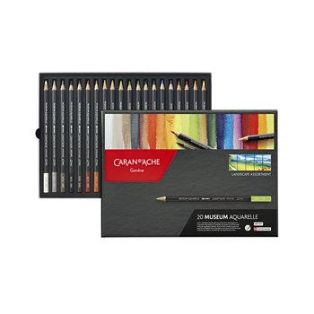 CARAN D'ACHE Museum Aquarelle 20 crayons - Paysage
