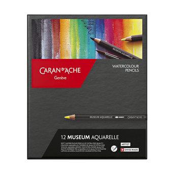CARAN D'ACHE Museum Aquarelle crayons 12 couleurs
