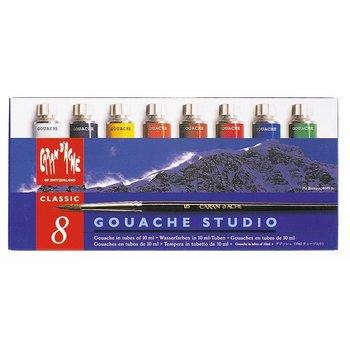 CARAN D'ACHE Gouache Studio Tube Boîte métal à 8 couleurs
