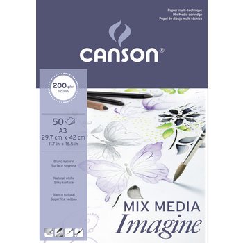 CANSON Bloc 50Fl  Imagine Canson®  A3 200G Blanc