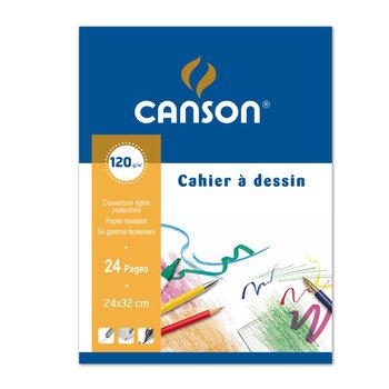 CANSON Cahier À Dessin Blanc 24X32Cm 24 Pages 120G/m²- Couverture Polypro