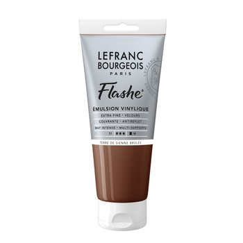 LEFRANC BOURGEOIS Flashe Acrylique 80Ml Tube Terre De Sienne Brûlée