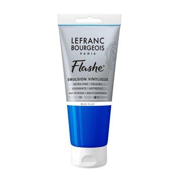 LEFRANC BOURGEOIS Flashe Acrylique 80Ml Tube Bleu Fluo