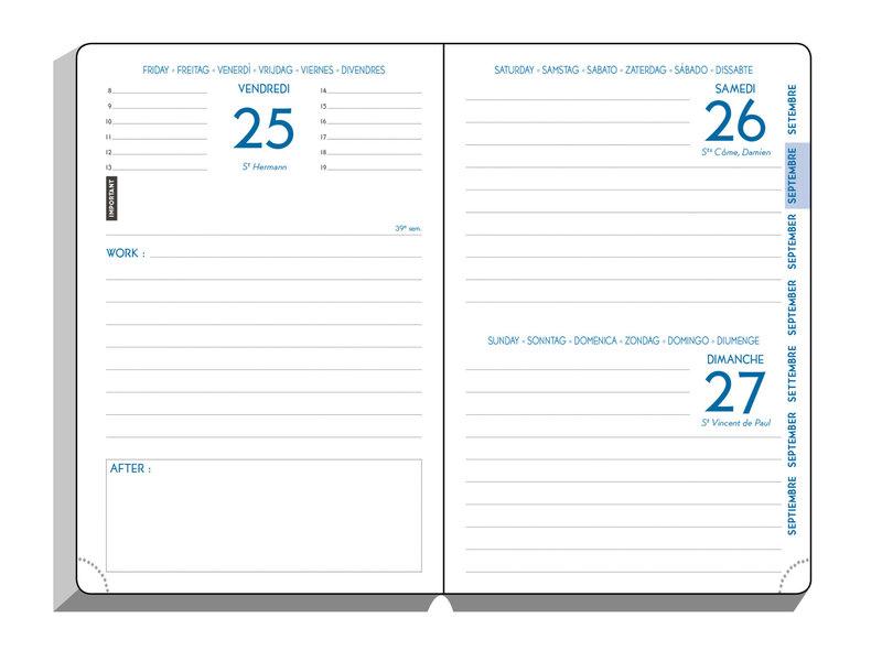 EXACOMPTA Agenda Scolaire 1 jour par page Forum Work & After Origami 150x100 modèles aléatoires