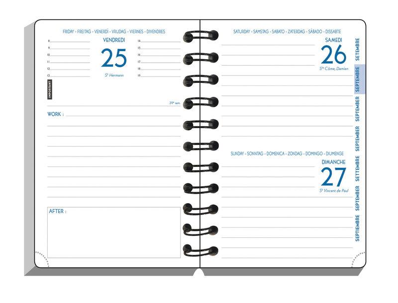 EXACOMPTA Agenda Scolaire 1 jour par page Forum Work & After Iderama 150x100 Noir