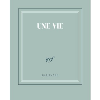 "GALLIMARD Carnet poche bleu gris ""UNE VIE"""