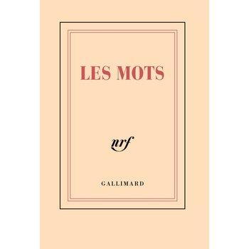 """GALLIMARD Carnet poche ligné """"LES MOTS"""""""