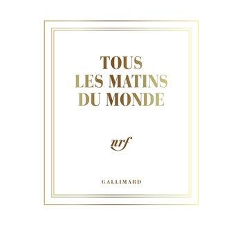 """GALLIMARD Carnet poche neige filets or ligné """"TOUS LES MATINS DU MONDE """""""