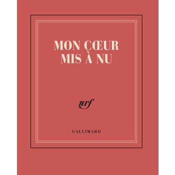 """GALLIMARD Carnet poche rouge ligné """"MON COEUR MIS À NU"""""""