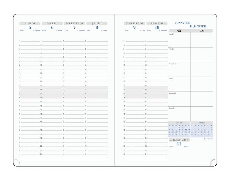 EXACOMPTA Agenda Scolaire semainier Visuel 7 Eden 210x150 couleurs aléatoires