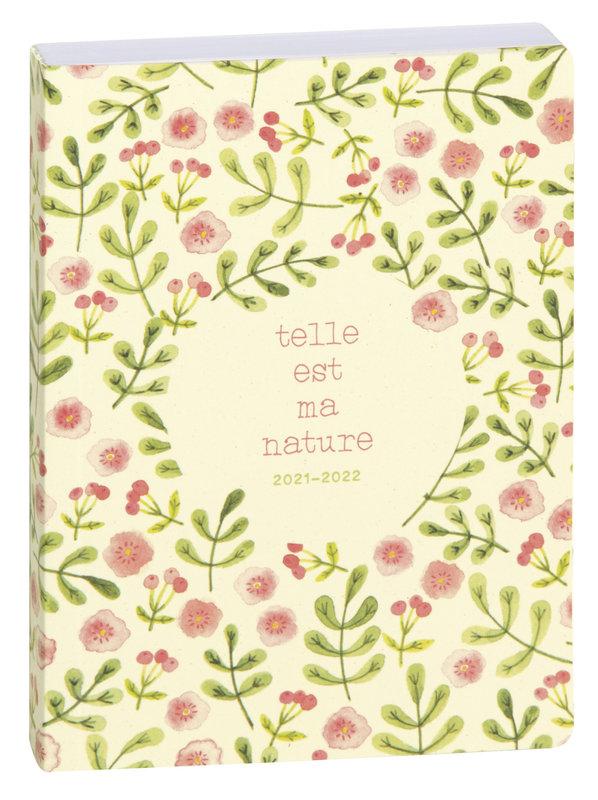 EXACOMPTA Agenda Scolaire 1 jour par page Forum Green by Julie Adore170x120 100 % éco-conçu fleurs roses