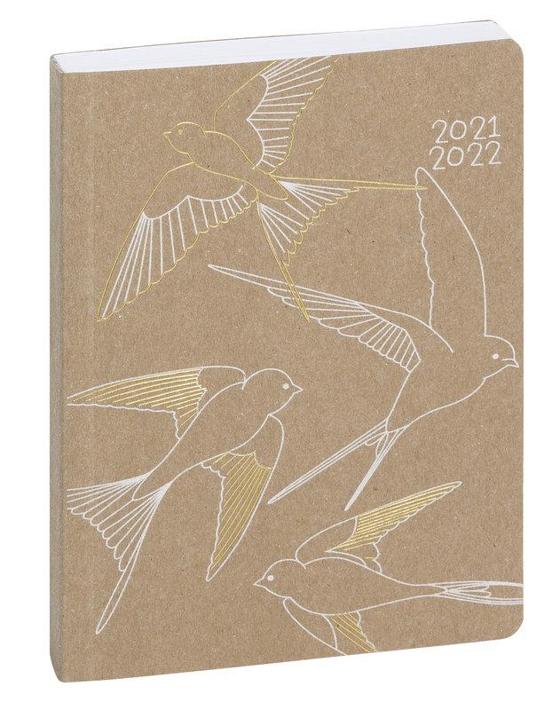 EXACOMPTA Agenda Scolaire 1 jour par page Forum Kraft 120x170 oiseau