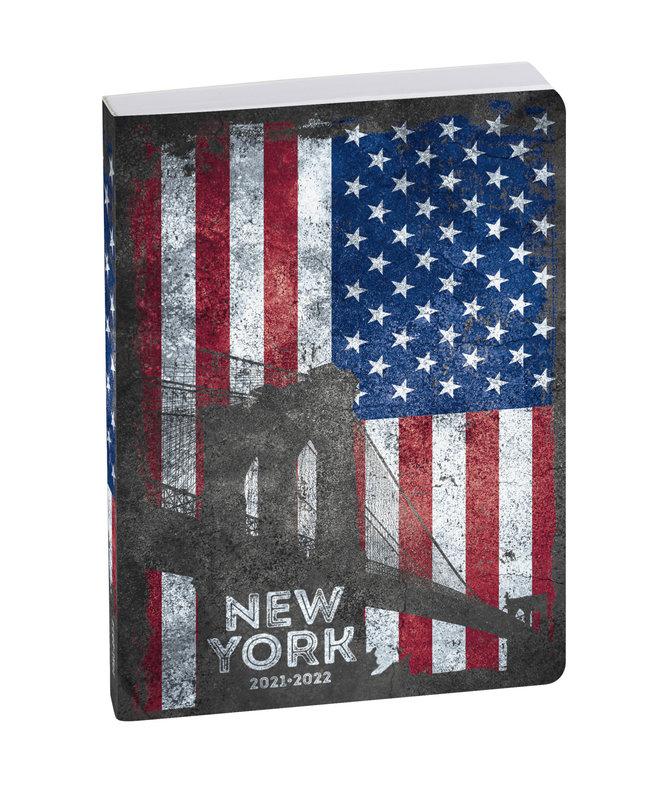 EXACOMPTA Agenda Scolaire 1 jour par page Forum Country Flag 120x170 New York