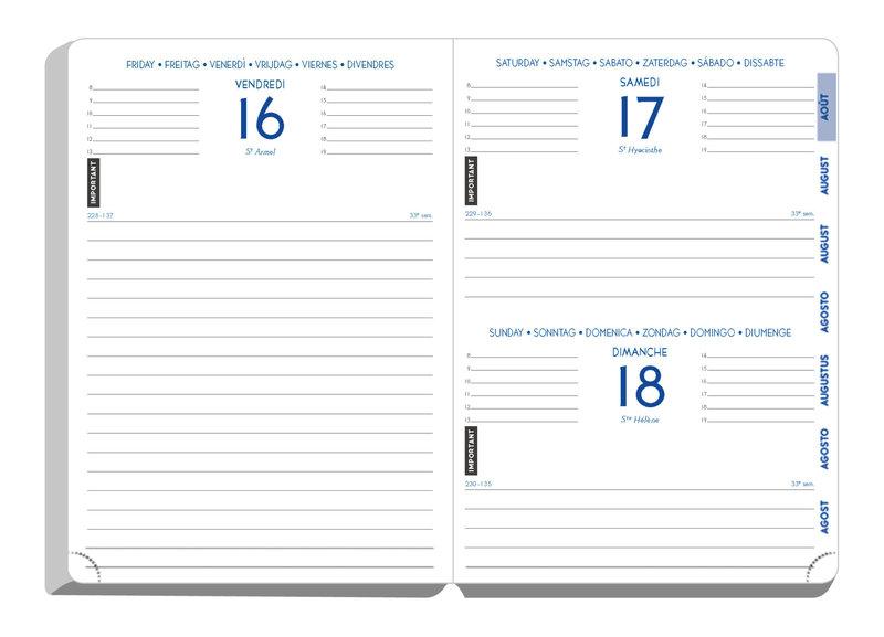 EXACOMPTA Agenda Scolaire 1 jour par page Forum Metric 170x120 bleu canard