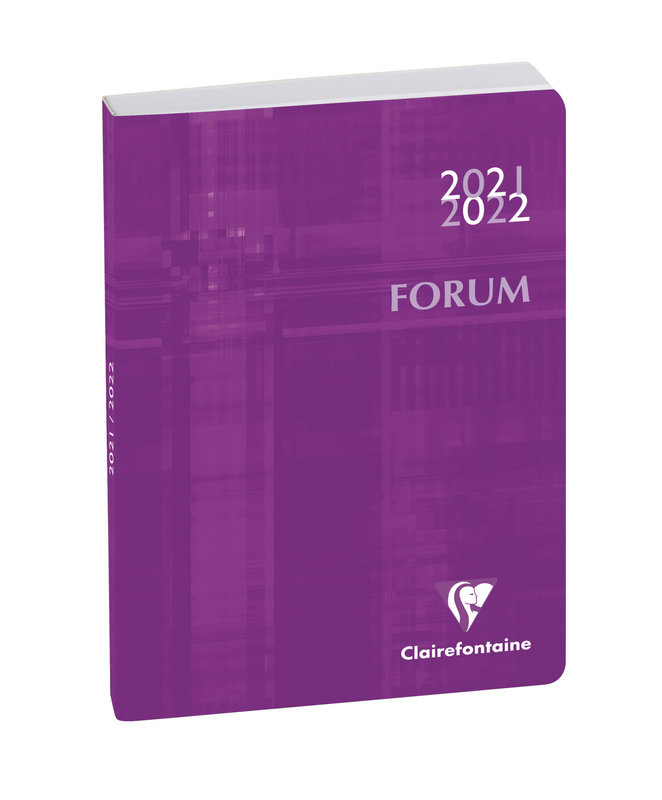 EXACOMPTA Agenda Scolaire 1 jour par page Forum Metric 170x120 violet