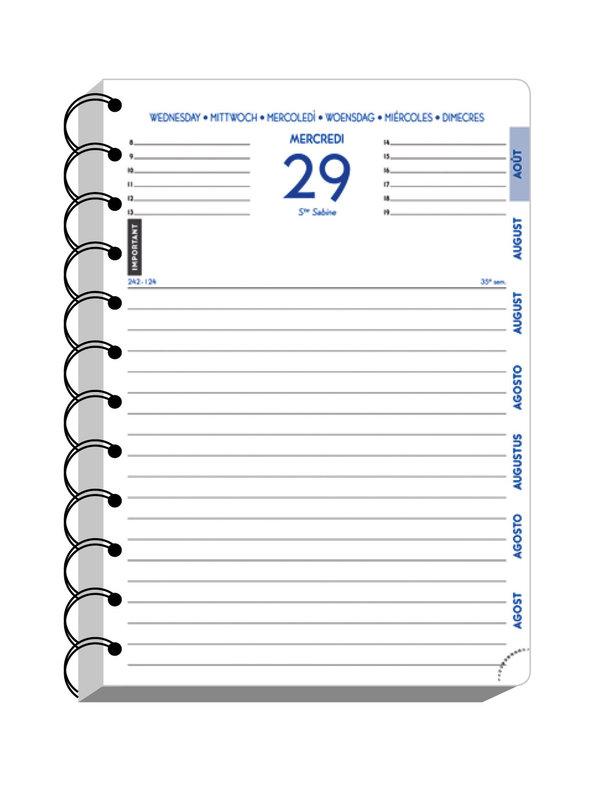 EXACOMPTA Agenda Scolaire 1 jour par page Forum Preston 170x120 bleu