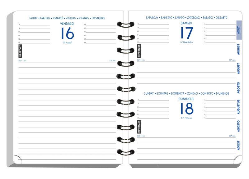 EXACOMPTA Agenda Scolaire 1 jour par page Forum Black & Color 170x120 bleu