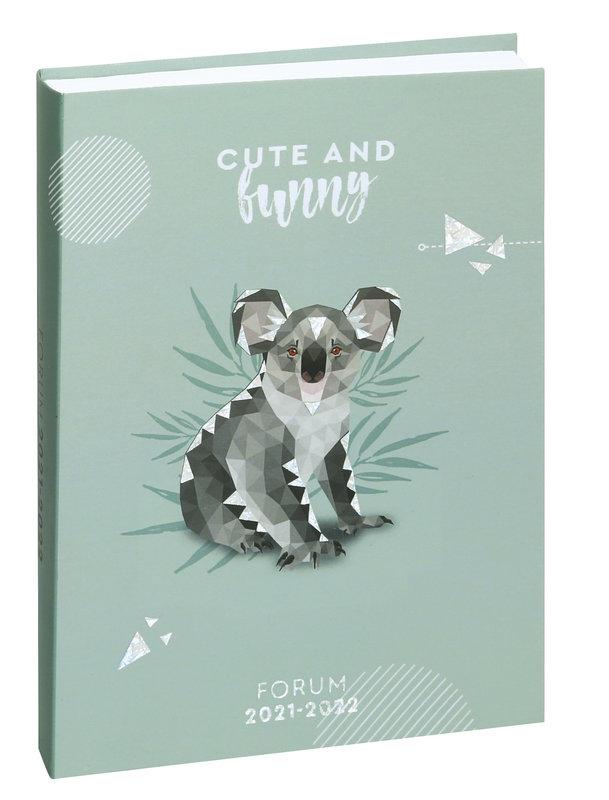 EXACOMPTA Agenda Scolaire 1 jour par page Forum Safari 175x125 koala