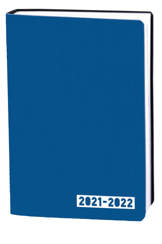 QUO VADIS Agenda scolaire 1 jour par page Eurotextagenda Galaxy 12x17cm bleu